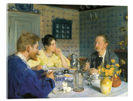 Acrylic print  A luncheon. The artist, his wife and the writer Otto Benzon - Peder Severin Krøyer