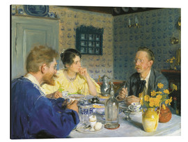 Aluminium print  A luncheon. The artist, his wife and the writer Otto Benzon - Peder Severin Krøyer
