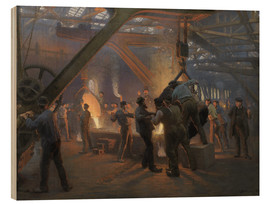 Wood print  Burmeister And Wain Iron Foundry - Peder Severin Krøyer