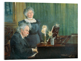 Acrylic print  Edvard Grieg accompanying his Wife - Peder Severin Krøyer