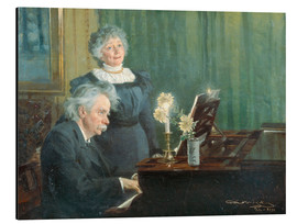 Aluminium print  Edvard Grieg accompanying his Wife - Peder Severin Krøyer