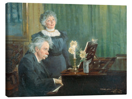 Canvas print  Edvard Grieg accompanying his Wife - Peder Severin Krøyer