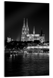 Acrylic print  Cologne Cathedral at night - rclassen
