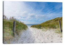 Canvas print  The way to the North Sea - Hannes Cmarits