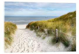 Acrylic print  North Sea beach - Hannes Cmarits