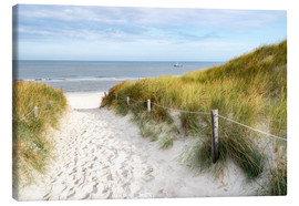 Canvas  North Sea beach - Hannes Cmarits