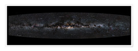 Premium poster Milky Way Panorama (German)