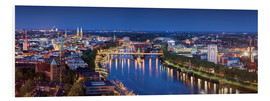 Foam board print  Bremen at the blue hour - Tanja Arnold Photography