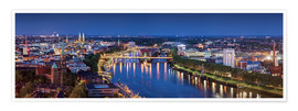 Premium poster  Bremen at the blue hour - Tanja Arnold Photography