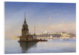 Acrylic glass  The Maiden's Tower (Maiden Tower) with Istanbul in the background - Carl Neumann