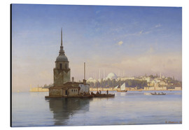 Aluminium print  The Maiden's Tower (Maiden Tower) with Istanbul in the background - Carl Neumann