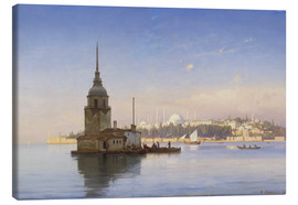 Canvas  The Maiden's Tower (Maiden Tower) with Istanbul in the background - Carl Neumann