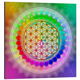 Aluminium print  Flower of life - rainbow lotus artwork II - Dirk Czarnota