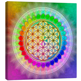 Canvas print  Flower of life - rainbow lotus artwork II - Dirk Czarnota