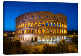 Canvas  Colosseum in Rome at night - Jan Christopher Becke