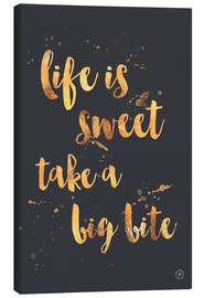Canvas print  life is sweet - m.belle