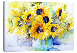 Canvas print  Sunflowers in vase - Brigitte Dürr