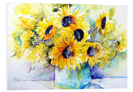 Foam board print  Sunflowers in vase - Brigitte Dürr