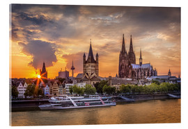 Acrylic print  Cologne Cathedral and Great St Martin - Jens Korte