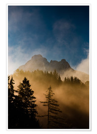 Premium poster Foggy Morning in the Alps