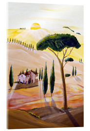 Acrylic print  Tuscany in the morning - Christine Huwer