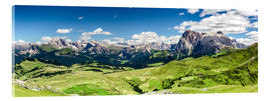 Acrylic print  Seiser Alm panoramic view, South Tyrol - Sascha Kilmer