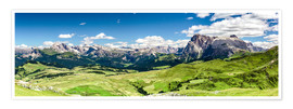 Premium poster  Seiser Alm panoramic view, South Tyrol - Sascha Kilmer