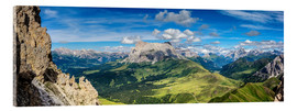 Acrylic print  The Dolomites in South Tyrol, panoramic view - Sascha Kilmer