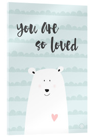 Acrylic glass  You are so loved - Mint - m.belle