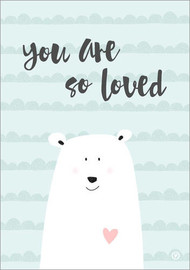 Acrylic print  You are so loved - Mint - m.belle