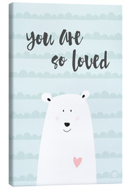 Canvas print  You are so loved - Mint - m.belle