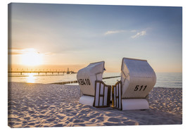Canvas print  Beach chairs, Baltic Sea - Christian Müringer
