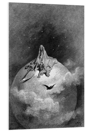 Foam board print  The Raven - Gustave Doré