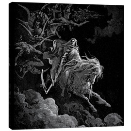 Canvas print  Death on a pale horse - Gustave Doré