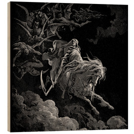 Wood print  Death on a pale horse - Gustave Doré