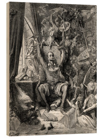 Wood print  Don Quixote, a world of disorder - Gustave Doré