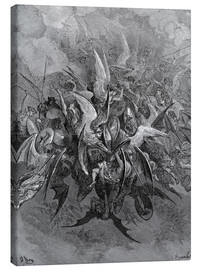 Canvas print  War in Heaven - Gustave Doré