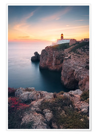 Premium poster  At the end of the world (Cabo de São Vicente / Algarve / Portugal) - Dirk Wiemer