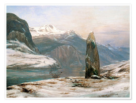 Premium poster winter at the sognefjord