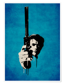 Premium poster  Clint Eastwood - Dirty Harry - Durro Art