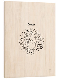 Wood print  Zodiac Cancer - Petit Griffin