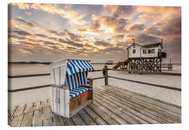 Canvas print  Sankt Peter Ording, Baltic Sea in the Morning - Dennis Stracke