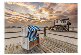 Foam board print  Sankt Peter Ording, Baltic Sea in the Morning - Dennis Stracke