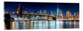 Sascha Kilmer - New York City Skyline with Brooklyn Bridge (panoramic view)