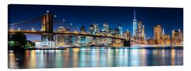 Canvas  New York City Skyline with Brooklyn Bridge (panoramic view) - Sascha Kilmer