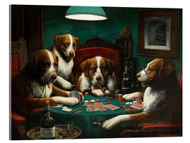 Acrylic glass  The poker game - Cassius Marcellus Coolidge