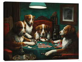 Canvas print  The poker game - Cassius Marcellus Coolidge