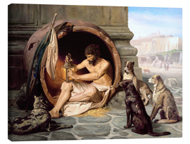 Canvas print  Diogenes in his barrel - Jean Leon Gerome