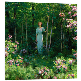 Foam board print  The Edge of the Woods - Charles Courtney Curran