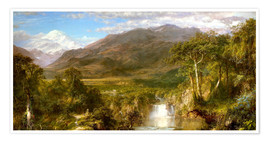 Premium poster  Heart of the Andes - Frederic Edwin Church